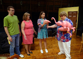 Alex Wolking, Terri Nelson, Elizabeth DeReu, and Jan Golz in Love Thy Neighbor