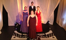 Sheri Olson, Wendy Czekalski, Bryan Tank, and Erin Lounsberry in Let's Face the Music: A New Musical Revue