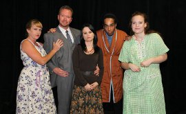 Angela Rathman, Mike Schulz, Jessica Denney, Chris Page, and Karen Jorgenson in How I Learned to Drive