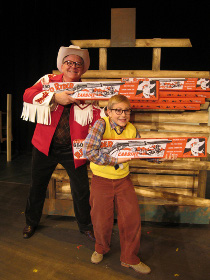 Steve Einspahr and Ben Klocke in A Christmas Story: The Musical