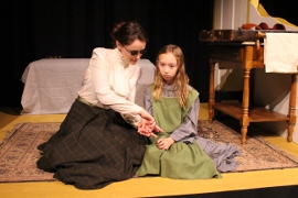 Cayte McClanathan and Laila Haley in The Miracle Worker