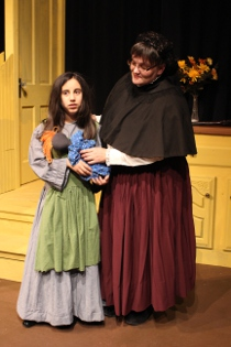 Emma Terronez and Mollie Schmelzer in The Miracle Worker