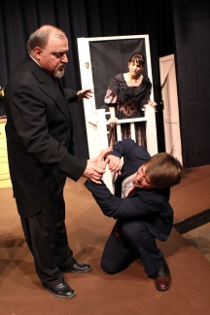Bill Peiffer, Tyler Henning, and Leigh Van Winkle in The Miracle Worker