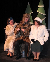 Faith Hardacre, Zach Hendershott, and Chris Castle in A Christmas Survival Guide