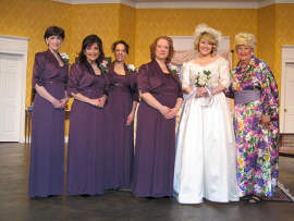 Lora Adams, Miranda Jane, Tamarin K. Lawler, Rachelle Walljasper, Cara Chumbley, and Janet Ellen Brucken in Always a Bridesmaid