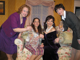 Rachelle Walljasper, Tamarin K. Lawler, Miranda Jane, and Lora Adams in Always a Bridesmaid