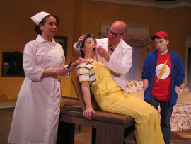 Tamarin Lawler, Stacy Phipps, Brad Hauskins, and Morgan Griffin in Tales of a Fourth Grade Nothing