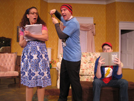 Tamarin Lawler, Brad Hauskins, and Morgan Griffin in Tales of a Fourth Grade Nothing