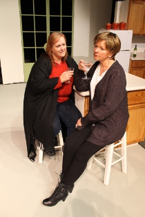 Lisa Kahn and Pamela Crouch-Zayner in Dinner with Friends