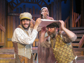 Aidan Sank, Alexis Harter, and Marc Ciemiewicz in Fiddler on the Roof