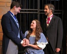 Dan Pepper, Jodi McGinn, and Mark McGinn in Les Miserables