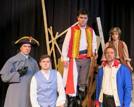 Patrick Downing, Dan Pepper, Rob Keech, Mark McGinn, and Quincy Keele in Les Miserables