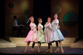 Carly Ann Berg, Sarah Randall, Heather Baisley, and Jenna Haimes in The Taffetas; photo by Jean Black