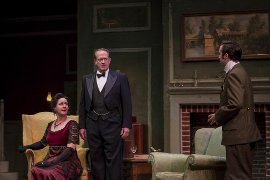 Danielle Brothers, John Chase, and Grant Brown in An Inspector Calls