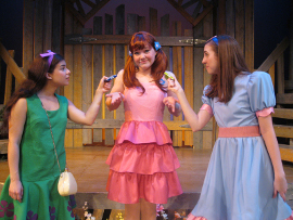 Iliana Garcia, Lauren VanSpeybroeck, and Alexis Harter in StinkyKids: The Musical