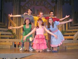 Iliana Garcia, Mark Bacon, Lauren VanSpeybroeck, Mitch Donahue, Alexis Harter, and Adam T. Biner in StinkyKids: The Musical