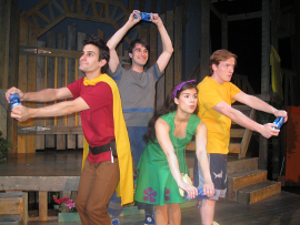 Adam T. Biner, Mark Bacon, Iliana Garcia, and Mitch Donahue in StinkyKids: The Musical