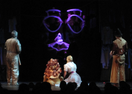 Caleb Jernigan, Heather Baisley, Carly Berg, and Robert Rice in The Wizard of Oz