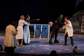 Matthew Webb, Lexie Plath, Analisha Santini, Blake W. Price, and Cody Jolly in Young Frankenstein