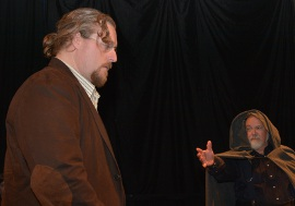 Aaron E. Sullivan and John Turner in Doctor Faustus