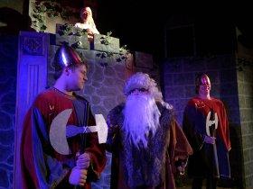 Max Moline, Abbey Donohoe, Wendy Czekalski, and Daniel Williams in Monty Python's Spamalot