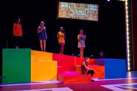 Melissa Weyn, Lexie Plath, Daryn Harrell, Allison Hunt, and Caroline Murrah in Shout! The Mod Musical