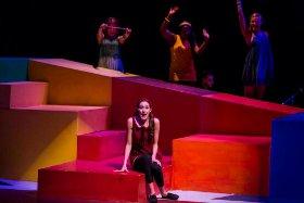 Allison Hunt, Caroline Murrah, Daryn Harrell, and Lexie Plath in Shout! The Mod Musical