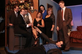 Shawn Sutton, Eric Landuyt, Tim Vanopdorp, Jamie Bauschka, Melissa Hummel, Terri Nelson, David Lane, and Victor Angelo in Marrying Terry