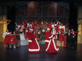 the Irving Berlin's White Christmas ensemble