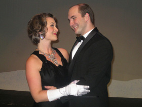 Sara Tubbs and Daniel S. Hines in Irving Berlin's White Christmas