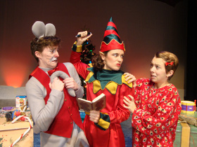 Daniel Rairdin-Hale, Allison Nook, and Emily Baker in 'Twas the Night Before Christmas
