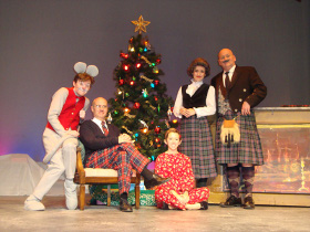Daniel Rairdin-Hale, Brad Hauskins, Emily Baker, Allison Nook, and Janos Horvath in 'Twas the Night Before Christmas