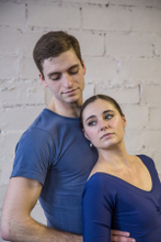 Patrick Green and Jill Schwartz rehearse Love Stories featuring Romeo & Juliet