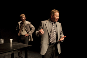 Thomas Alan Taylor and Mike Schulz in A Steady Rain, photo by Shared Light Photography's Jessica Sheridan