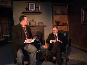 Mike Kelly and Doug Kutzli in The Mousetrap