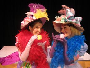 Kaitlyn Casanova and Sara Tubbs in Fancy Nancy: The Musical