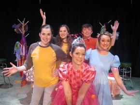 Morgan Griffin, Kirsten Sindelar, Kaitlyn Casanova, Aaron Lord, and Sara Tubbs in Fancy Nancy: The Musical