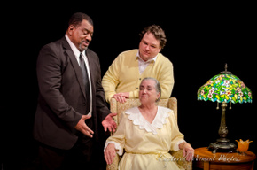 Fred Harris Jr., Rae Mary, and Jason Dlouhy in Driving Miss Daisy