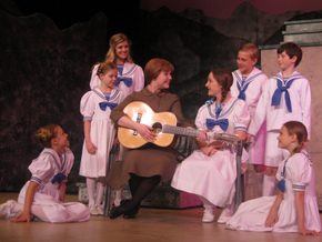 Natalie Anderson, Allison Willie, Autumn Loose, Lauren VanSpeybroeck, Krianna Walljasper, Ben Klocke, Gage McCalester, and Hailie Shemek in The Sound of Music
