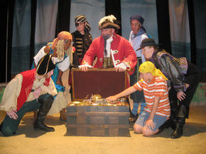 Cody King, Antoinette Holman, Chris Galvan, Janos Horvath, Brad Hauskins, Deanna Collins, and Ben Klocke in How I Became a Pirate