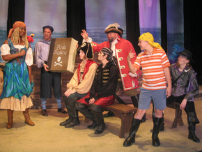 Antoinette Holman, Brad Hauskins, Cody King, Chris Galvan, Janos Horvath, Ben Klocke, and Deanna Collins in How I Became a Pirate