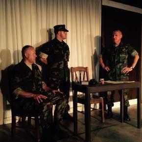 Doug Kutzli, Matt Stoltz, and James Driscoll in A Few Good Men