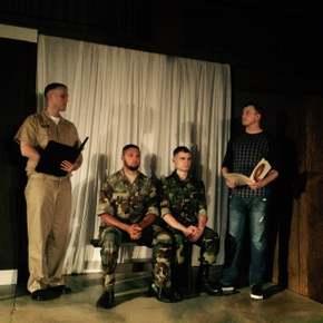 Jacob Kendall, Jordan McGinnis, Anthony Nataretti, and Tristan Tapscott in A Few Good Men