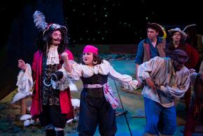 Cody Jolly, Amelia Jo Parish, Levi Skoog, Arabella Chamberlain, and Charles Benson in Peter Pan