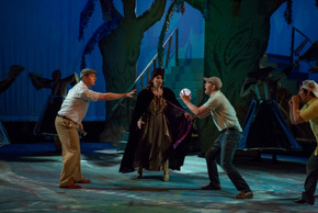 Karl Hamilton, Paige ManWaring, and Matt W. Miles in Big Fish