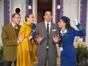 Tristan Tapscott, Theresa McGuirk, Cory Boughton, and Cara Moretto in Boeing-Boeing
