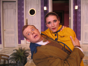 Tristan Tapscott and Theresa McGuirk in Boeing-Boeing