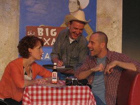 Erin Churchill, Tom Walljasper, and Kenton Fridley in Route 66