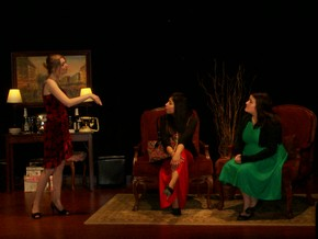 Shannon O'Brien, Karina Monrreal, and Hannah Murray in The Dinner Party