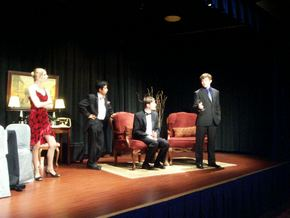 Shannon O'Brien, Joseph Nguyen, Max Robnett, and William Marbury in The Dinner Party